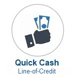 Quick Cash Icon. Click to Apply or Call Wanigas CU for help applying for a Quick Cash Loan