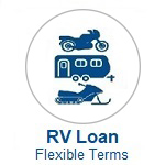 RV Loan Icon. Click to Apply or Call Wanigas CU for help applying for a Recreation Vehicle